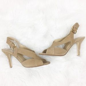 Michael Kors | Tan Open Toe Heels